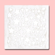 Seamless Stars - Bakery Decorating Stencil - Square 5.5